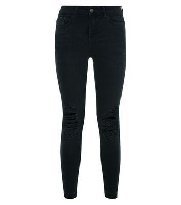 Black Ripped Knee Skinny Jenna Jeans New Look