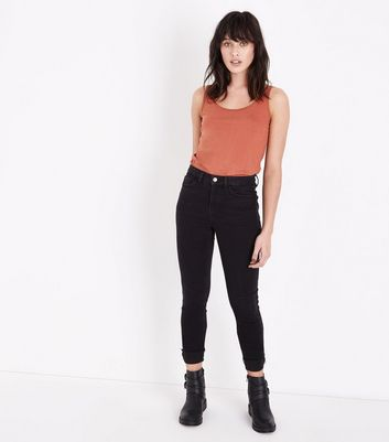 Rust Scoop Neck Vest New Look