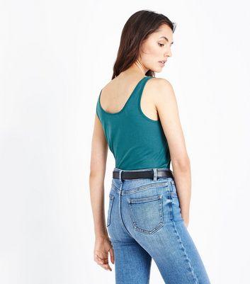 Green Scoop Neck Vest New Look