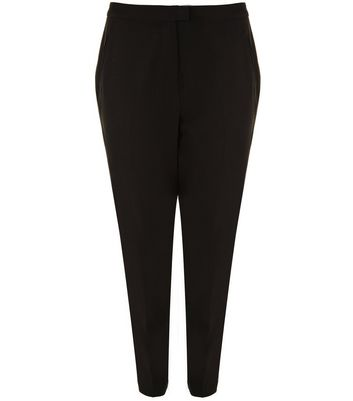Curves Black Slim Leg Suit Trousers New Look