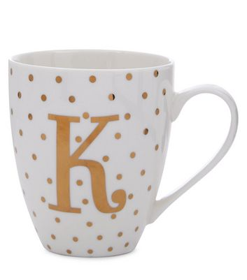 White K Initial Mug New Look