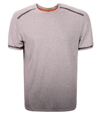 Grey Ombre Space Dye Sports T-Shirt New Look
