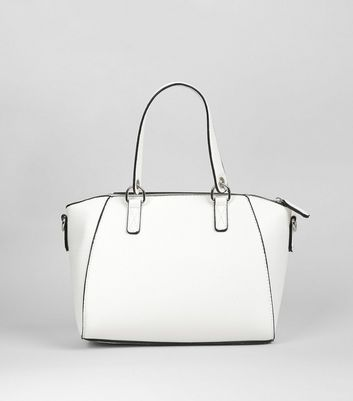 White Mini Bowler Bag New Look