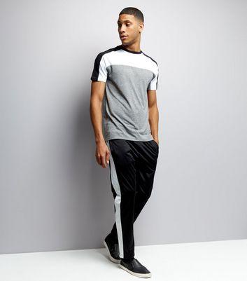 Grey Colour Block Short Sleeve T-Shirt New Look
