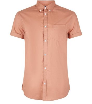Pink Cotton Short Sleeve Shirt New Look