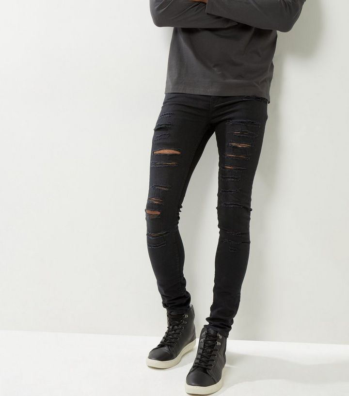 super cheap compares to super cheap compares to top-rated professional Black Extreme Ripped Super Stretch Skinny Jeans Add to Saved Items Remove  from Saved Items