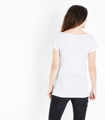 Maternity White Scoop Neck T-shirt New Look