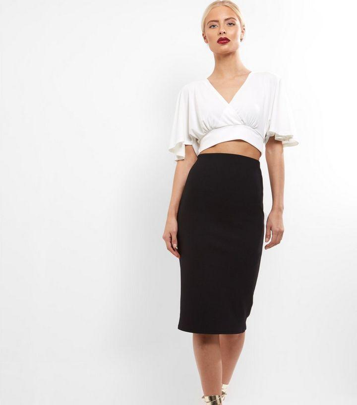 9792ff8bb Black Crepe Scuba Midi Pencil Skirt | New Look