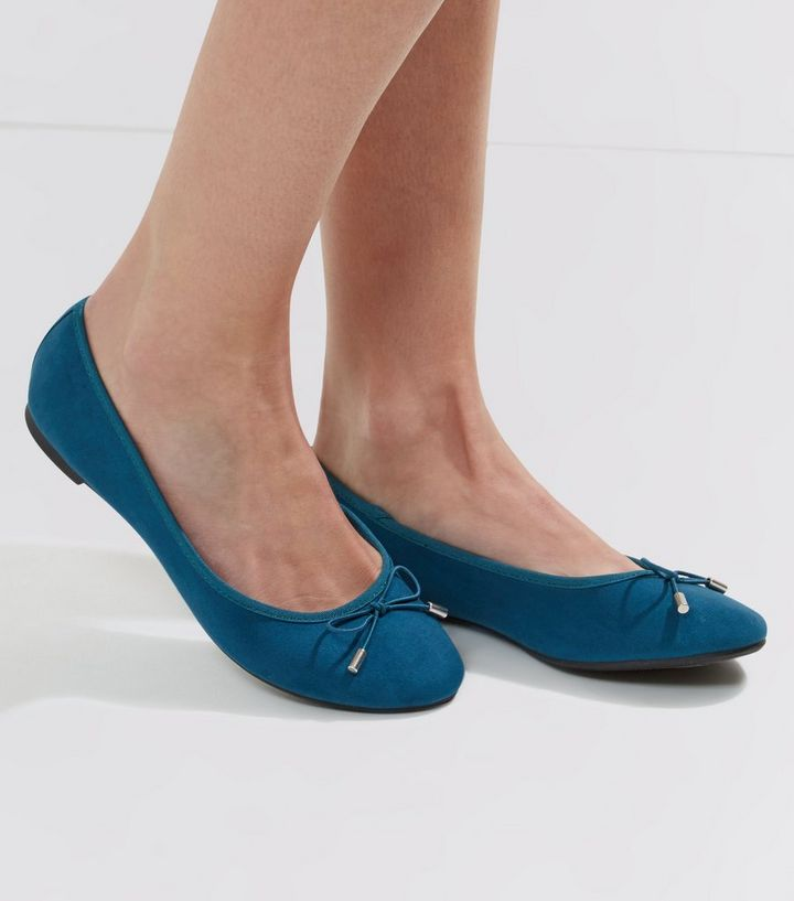5837ad364 Blue Ballet Pumps | New Look