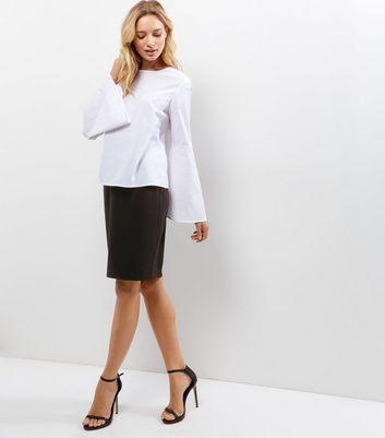 Petite Black Midi Suit Skirt New Look