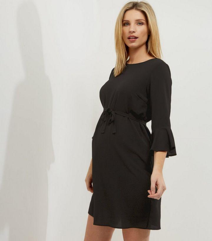 250891b8a4fe9 Maternity Black Bell Sleeve Tunic Dress | New Look