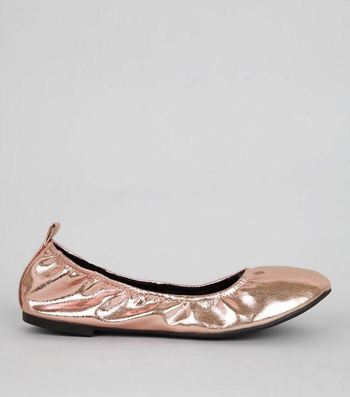 a50a396b2c84 Rose Gold Ballet Pumps