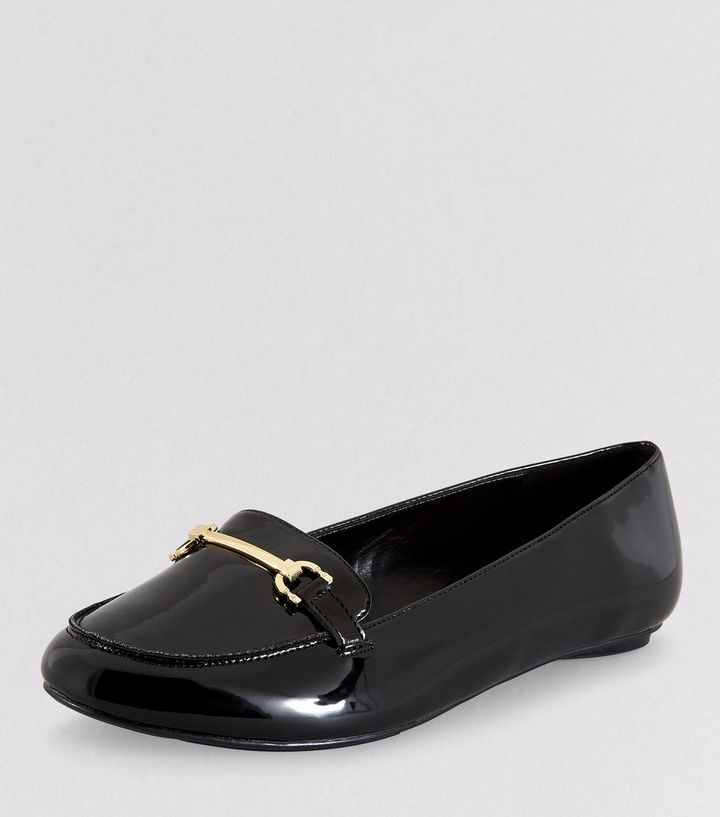 66839c75703b ... Extra Wide Fit Black Patent Metal Bar Loafers. ×. ×. ×. VIDEO Shop the  look