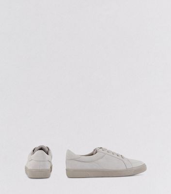 Teens Grey Suedette Lace Up Trainers New Look