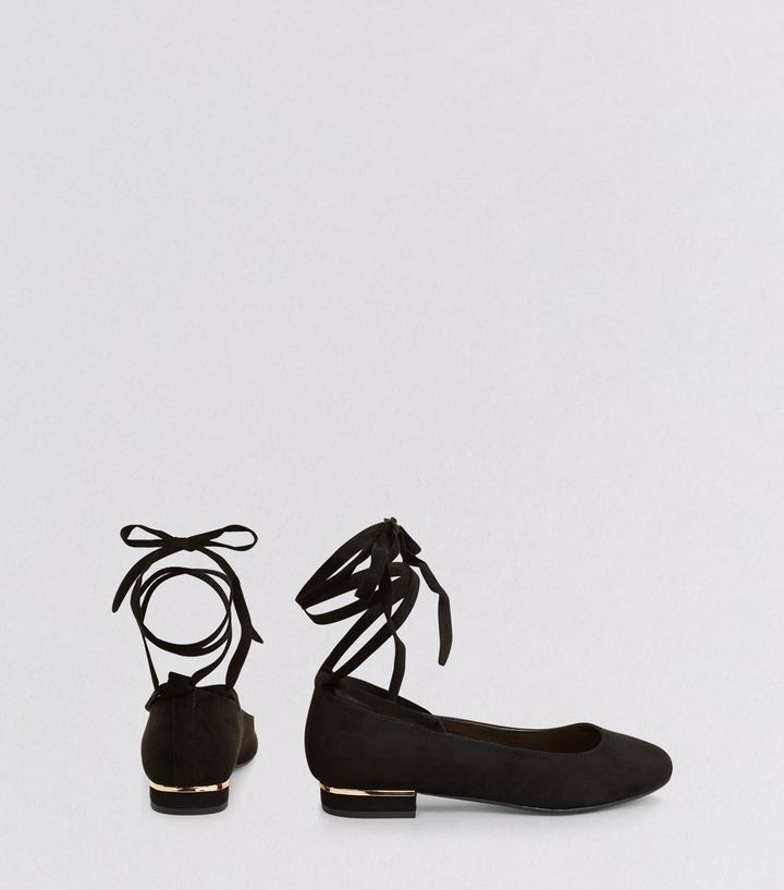25d7a64ccb04d ... Black Lace Up Ankle Tie Ballet Shoes. ×. ×. ×. Shop the look