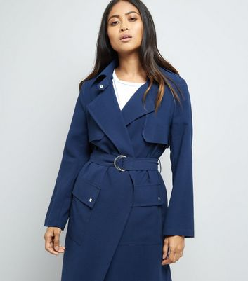 Petite Navy D Ring Utility Mac New Look