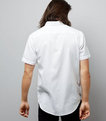 White Textured Short Sleeve Shirt New Look