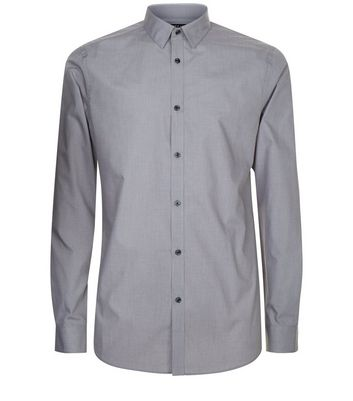 Grey Long Sleeve Shirt New Look