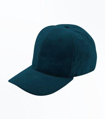 Green Suedette Cap New Look