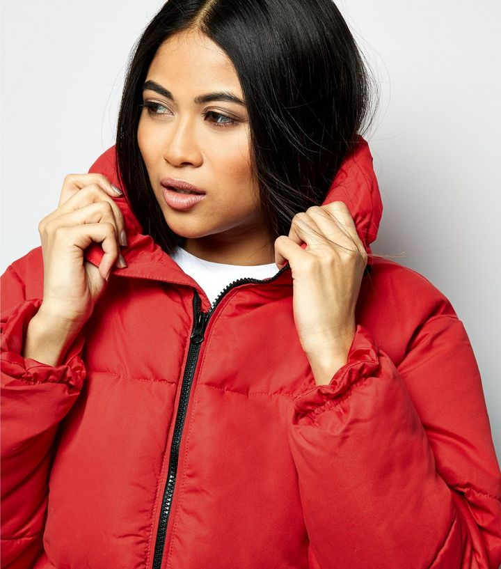 6a7275ac1 Petite Red Cropped Puffer Jacket Add to Saved Items Remove from Saved Items