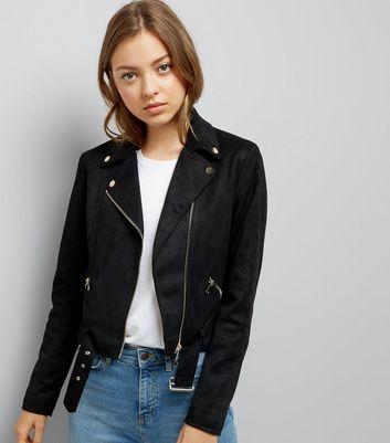 Black Suedette Jacket New Look