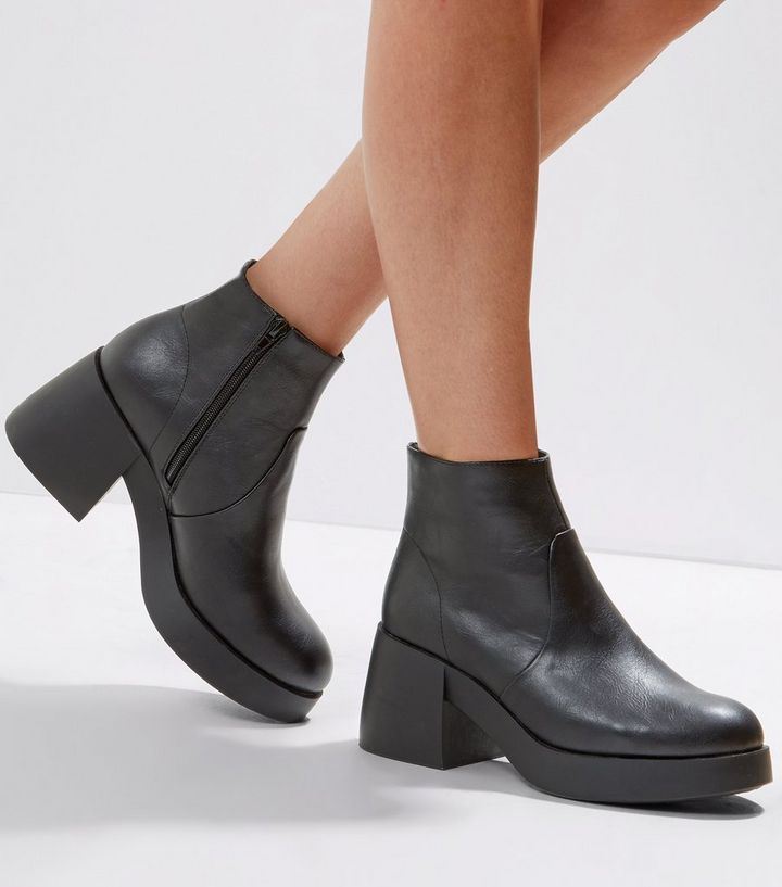 c1be4261ac5 Black Chunky Ankle Boots Add to Saved Items Remove from Saved Items