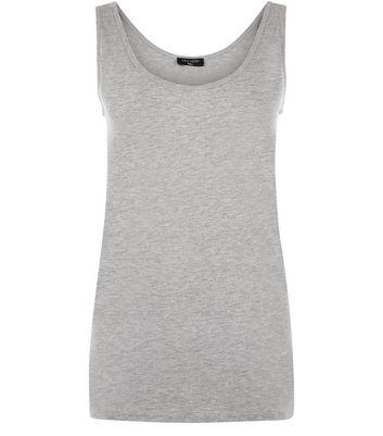 Tall Grey Scoop Neck Vest New Look