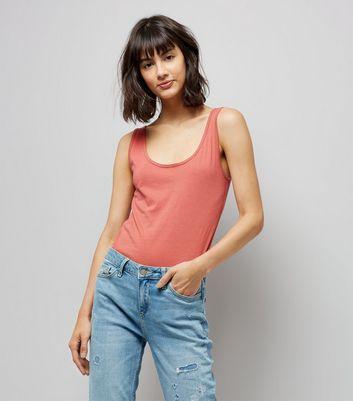 Tall Pink Scoop Neck Vest New Look
