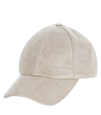 Gold Glitter Cap New Look