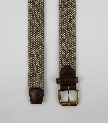 Khaki Elasticated Belt New Look