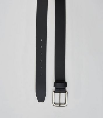 Black Leather Belt New Look
