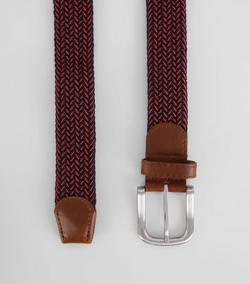 Red Elasticated Belt New Look