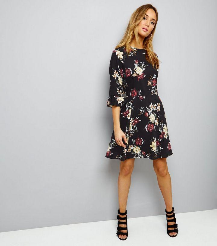 8666f7878c ... Black Floral Keyhole Tie Back Skater Dress. ×. ×. ×. Shop the look