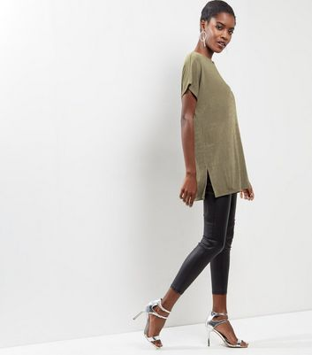 Khaki Single Sleeve Top New Look