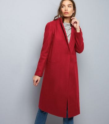 New Look Tailored Coat | Tailored coat, Red jacket outfit