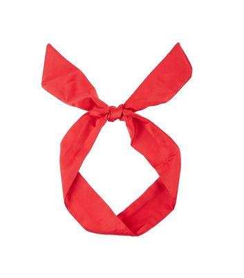 Red Sateen Neck Tie New Look