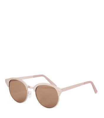 Mink Metal Retro Sunglasses New Look