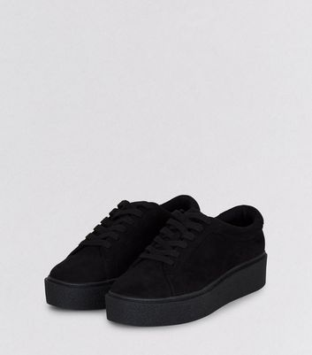 Teens Black Suedette Creepers New Look