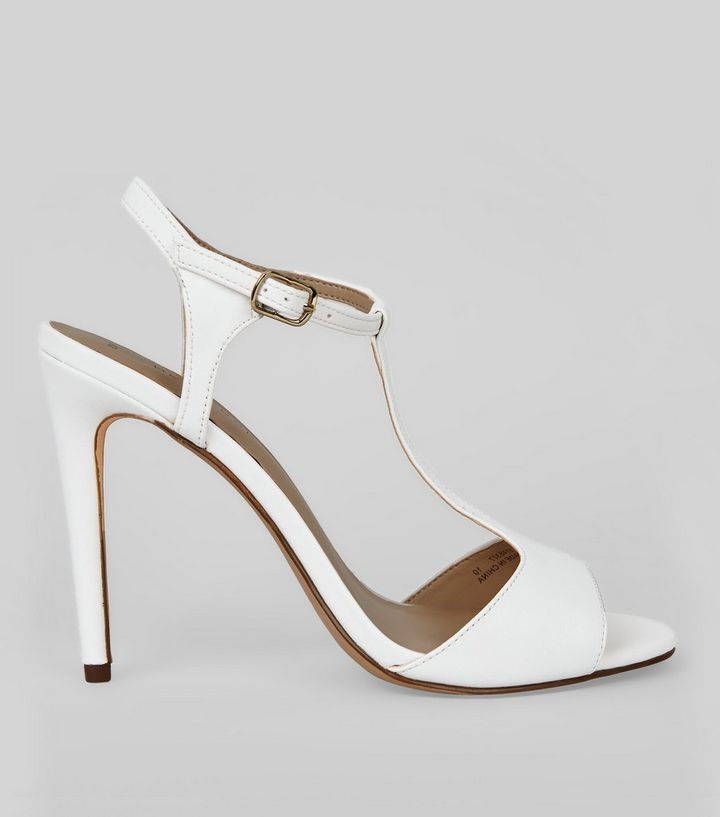 watch entire collection buy good White T Bar Heels | New Look