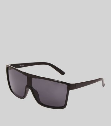 Black Square Oversized Sunglasses New Look