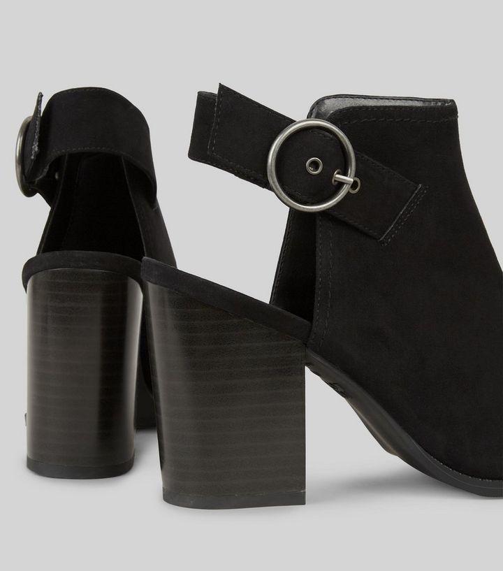 221c1857d64 ... Shoes · Wide Fit Black Suedette Slingback Boots. ×. ×. ×. VIDEO Shop  the look