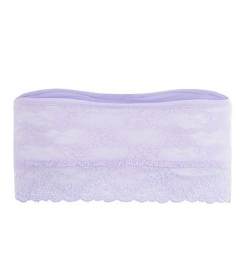Lilac Halenka Lace Bandeau New Look