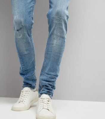 Pale Blue Twisted Seam Skinny Jeans New Look
