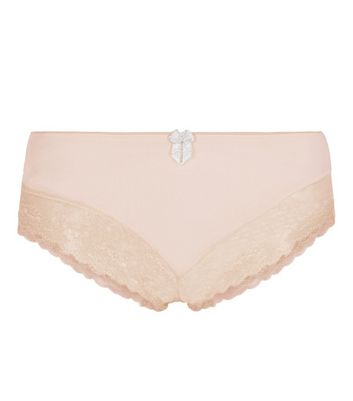 Nude Bride Squad Lace Leg Brazilian Briefs New Look