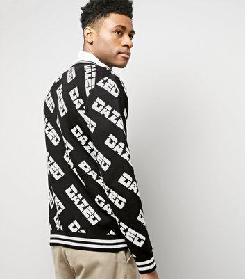 Black Dazed Knitted Jumper New Look