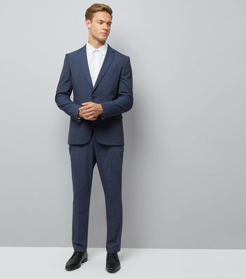 Navy Suit Trousers New Look