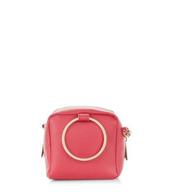 Pink Ring Handle Across Body Bag New Look