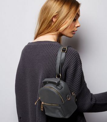 Black Mini Backpack New Look