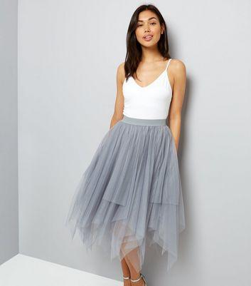 grey-tulle-hanky-hem-midi-skirt