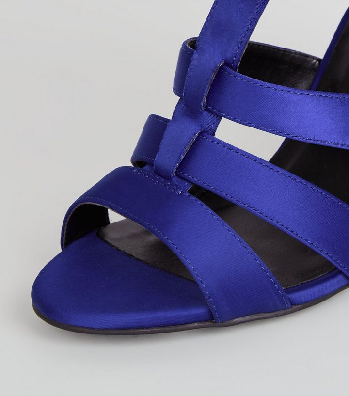 3e7f6224adc7 ... Blue Satin Gladiator Block Heels. ×. ×. ×. VIDEO Shop the look